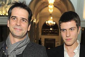 Paweł Deląg z synem
