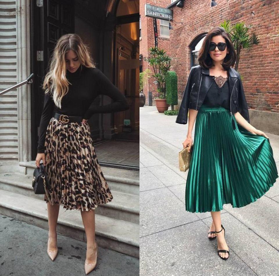 propozycje stylizacji na specjalne okazje z plisowanymi spódnicami