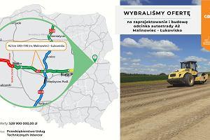 Będzie nowy fragment autostrady A2 na wschodzie kraju. Rozstrzygnięto przetarg