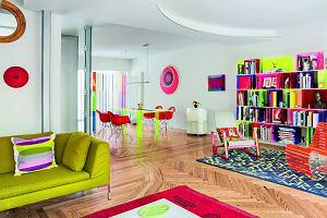 Barwne mieszkanie pary architektów