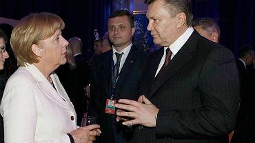 Angele Merkel i Wiktor Janukowycz
