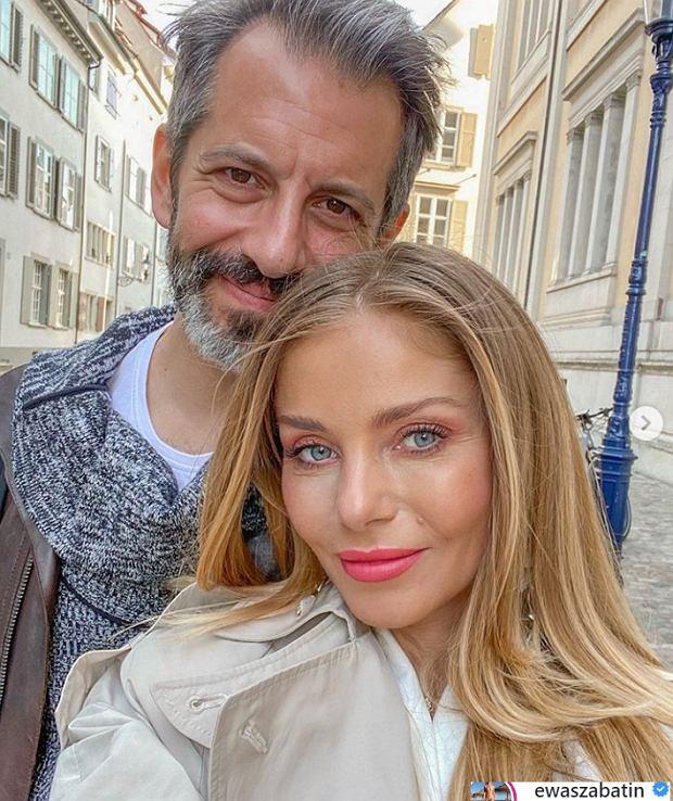 Ewa Szabatin z mężem