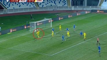 Asysta Zlatana Ibrahimovicia w meczu z Kosowem