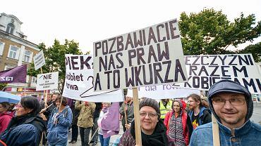 Manifestacja przeciwko zakazowi aborcji, Częstochowa 18.09