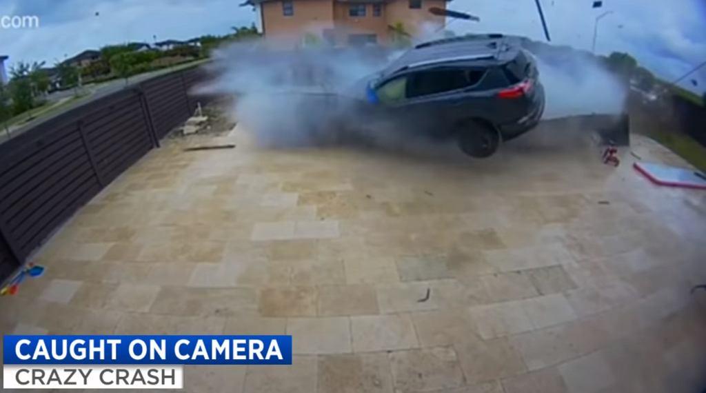 Toyota RAV4 - wypadek na Florydzie