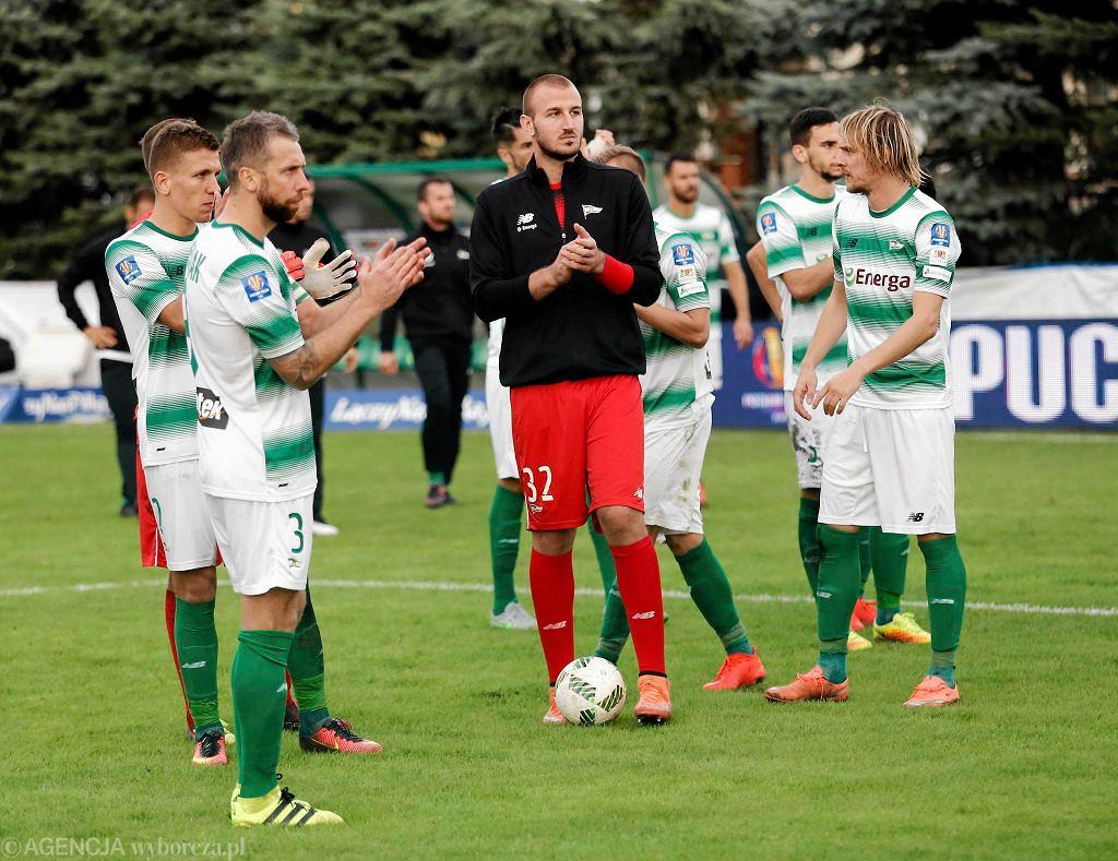 Piłkarze Lechii po porażce z Puszczą
