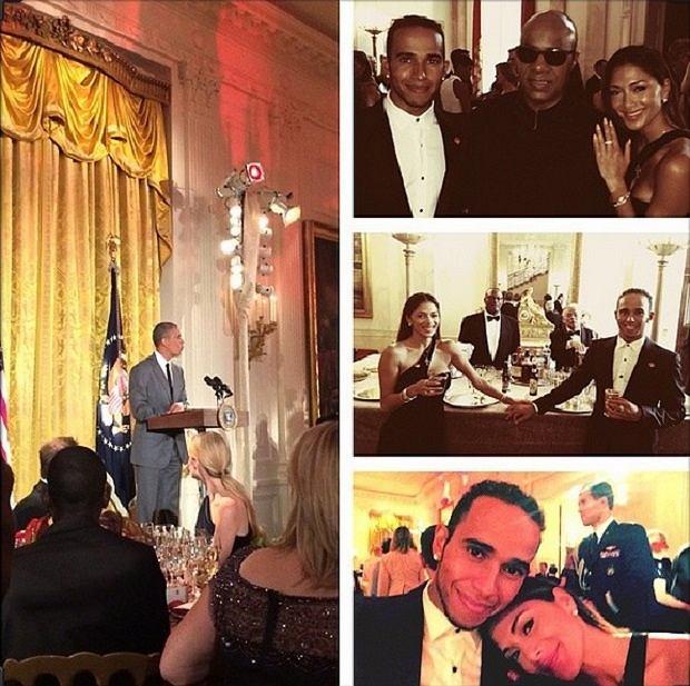 Lewis Hamilton i Nicole Scherzinger w Białym Domu