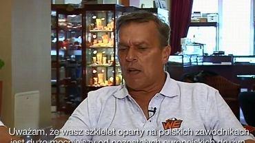 Nowy trener Warsaw Eagles Dale Heffron przed kamerą Orange Sport