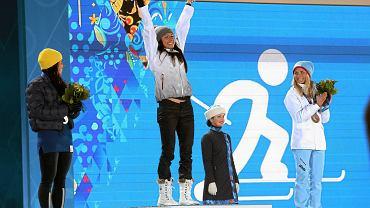 Justyna Kowalczyk na podium