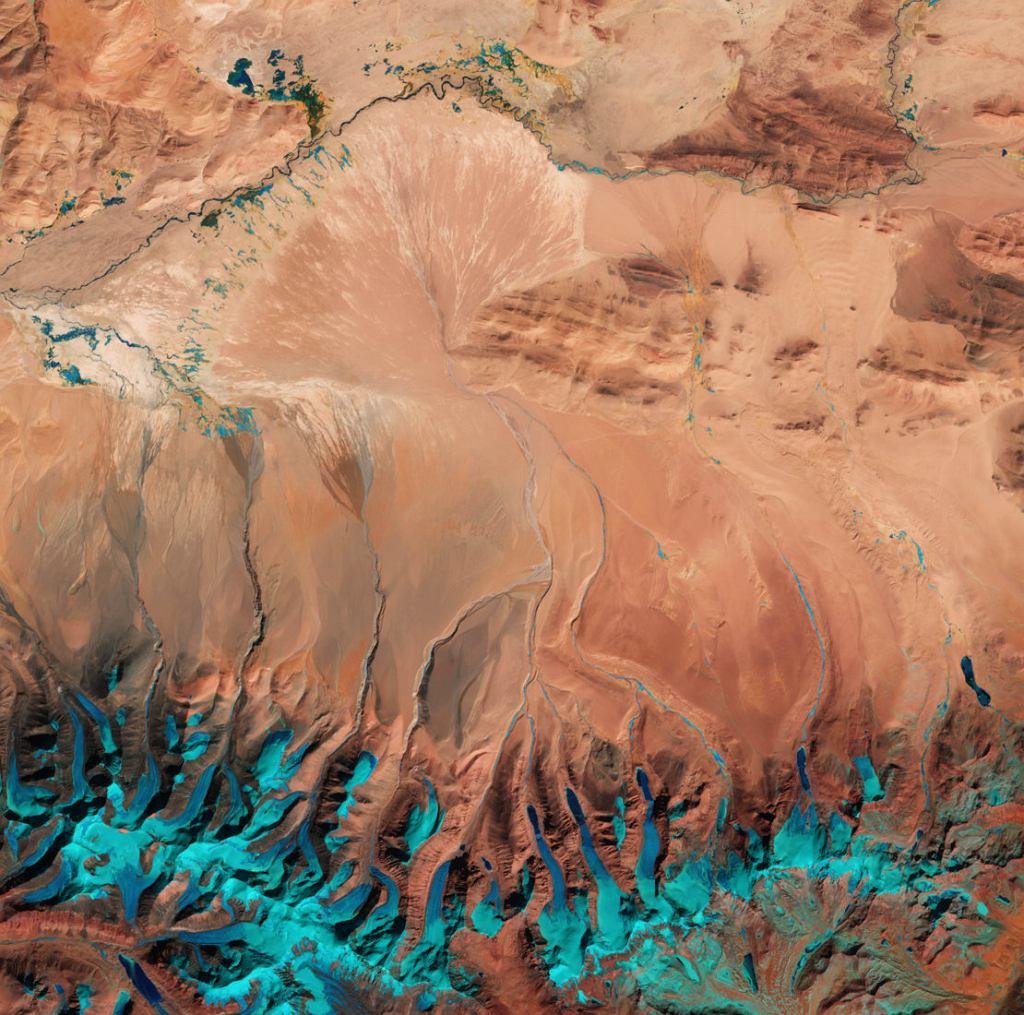 Krater w Kanadzie - obrobione dane radarowe