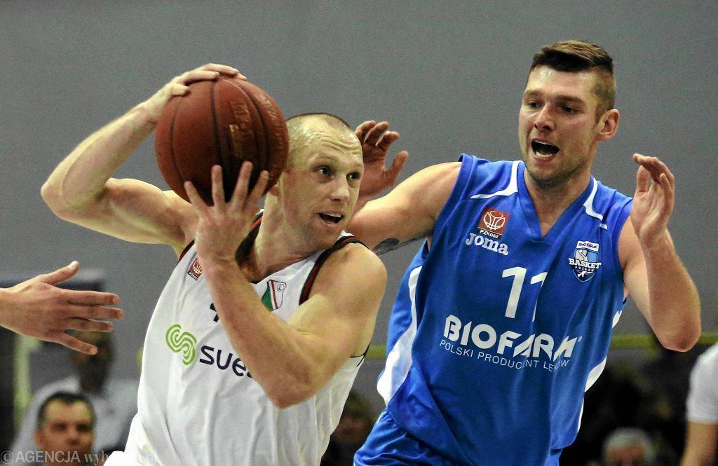 Legia Warszawa - Biofarm Basket Poznań 71:74. Tomasz Smorawiński