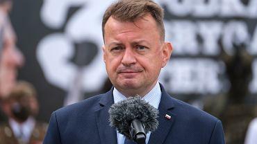 Szef MON Mariusz Błaszczak jest rozczarowany słowami prezydenta USA Joe Bidena o Nord Stream 2