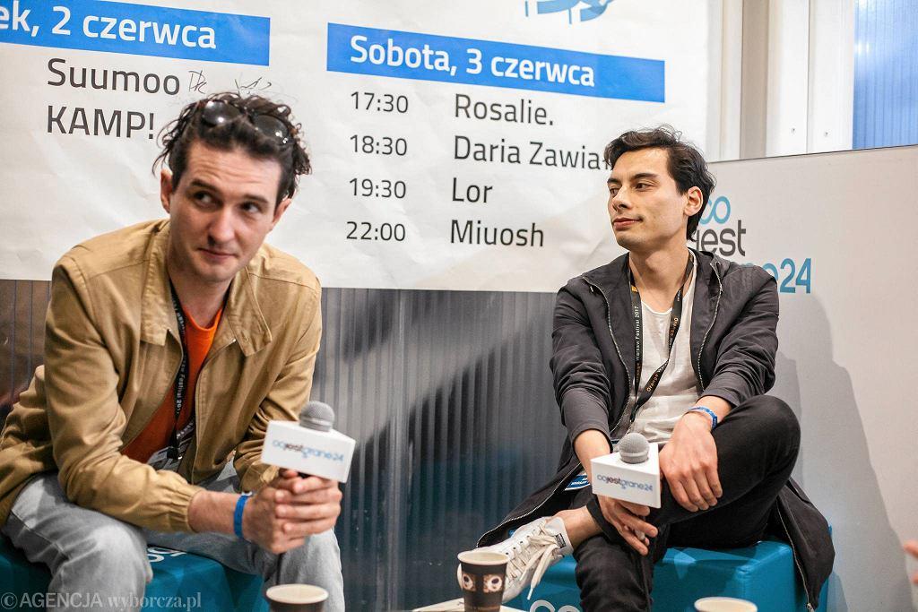 Kamp! w newsroomie CJG24 na Orange Warsaw Festival / DAWID ŻUCHOWICZ