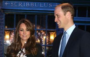 *** No UK Rights Until 28 Days from Picture Shot Date *** Photo Must Be Credited ?Alpha Press 073074 26/04/2013 Kate Duchess of Cambridge Catherine Katherine Middleton and Prince William Duke of Cambridge walk through on the set used to depict Diagon Alley in the Harry Potter Films during the Inauguration Of Warner Bros Studios in Leavesden