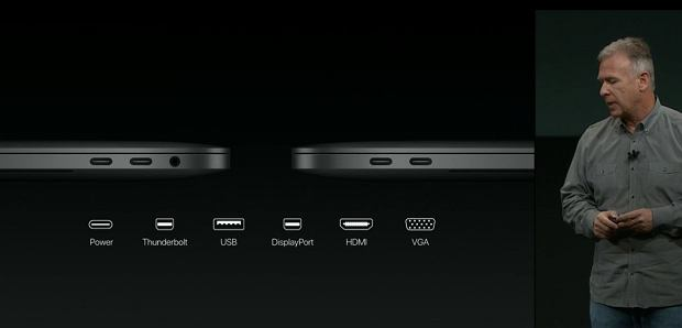 Apple MacBook Pro - jeden port zastępuje wiele