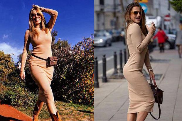 sukienka ołówkowa/mat. partnera/www.instagram.com/annalewandowskahpba/www.instagram.com/marcelina_zawadzka/