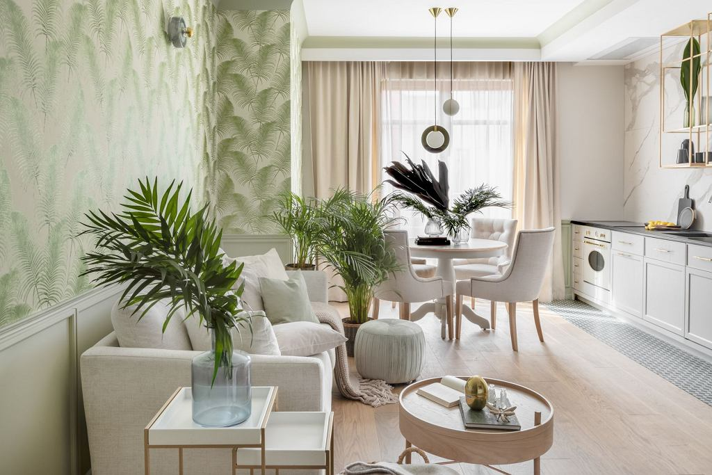 Aranżacja mieszkania w stylu urban jungle