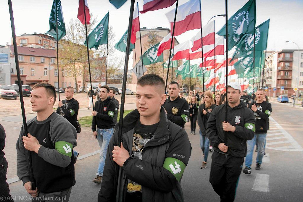 Demonstracje ONR w Białymstoku, 16 kwietnia 2016 r.