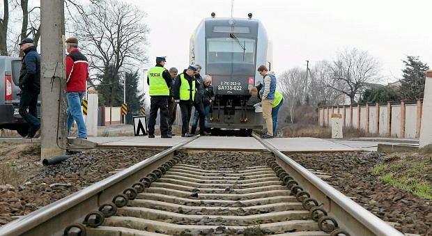 Śmiertelny wypadek na przejeździe kolejowym w Płocku