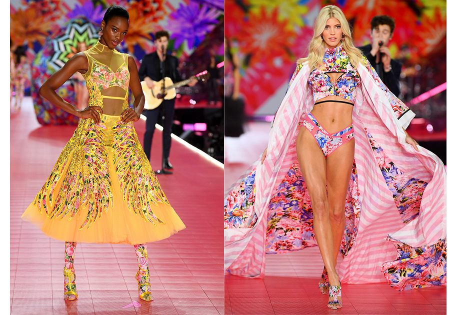 60bc8b91bb6 Podczas pokazu Victoria s Secret zaprezentowano kolekcję stworzoną we  współpracy z Mary Katrantzou