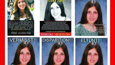 Plakat przygotowany w związku z zaginięciem Tijany Jurić