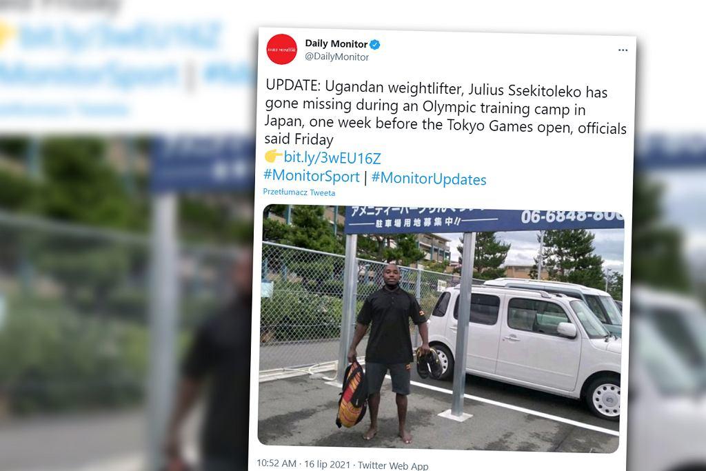 Japonia. Zaginął ugandyjski sztangista. W liście napisał, że nie chce wracać do kraju