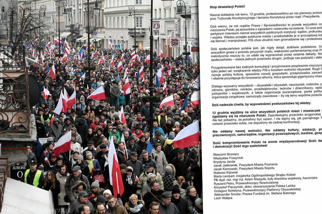 Demonstracja Komitetu Obrony Demokracji