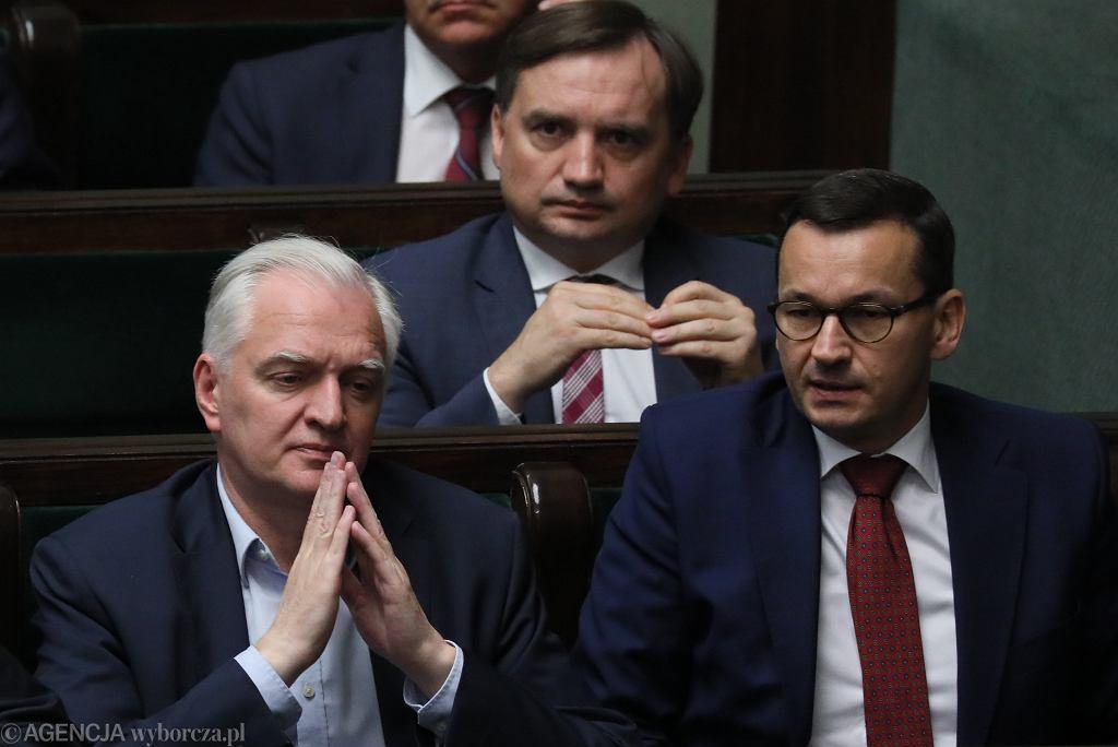 Jarosław Gowin, Zbigniew Ziobro, Mateusz Morawiecki