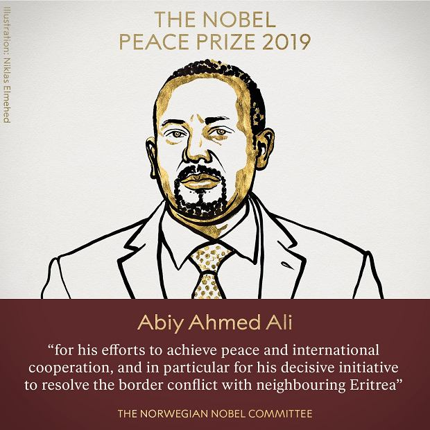 Laureat Pokojowej Nagrody Nobla Abiy Ahmed Ali