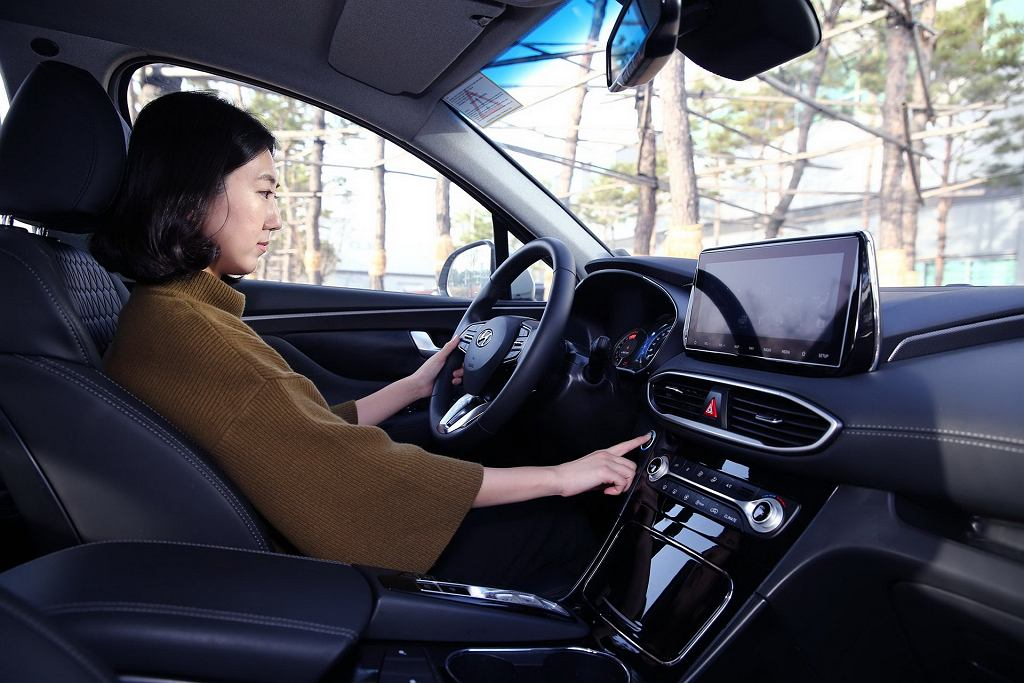 Hyundai Santa Fe odcisk palca