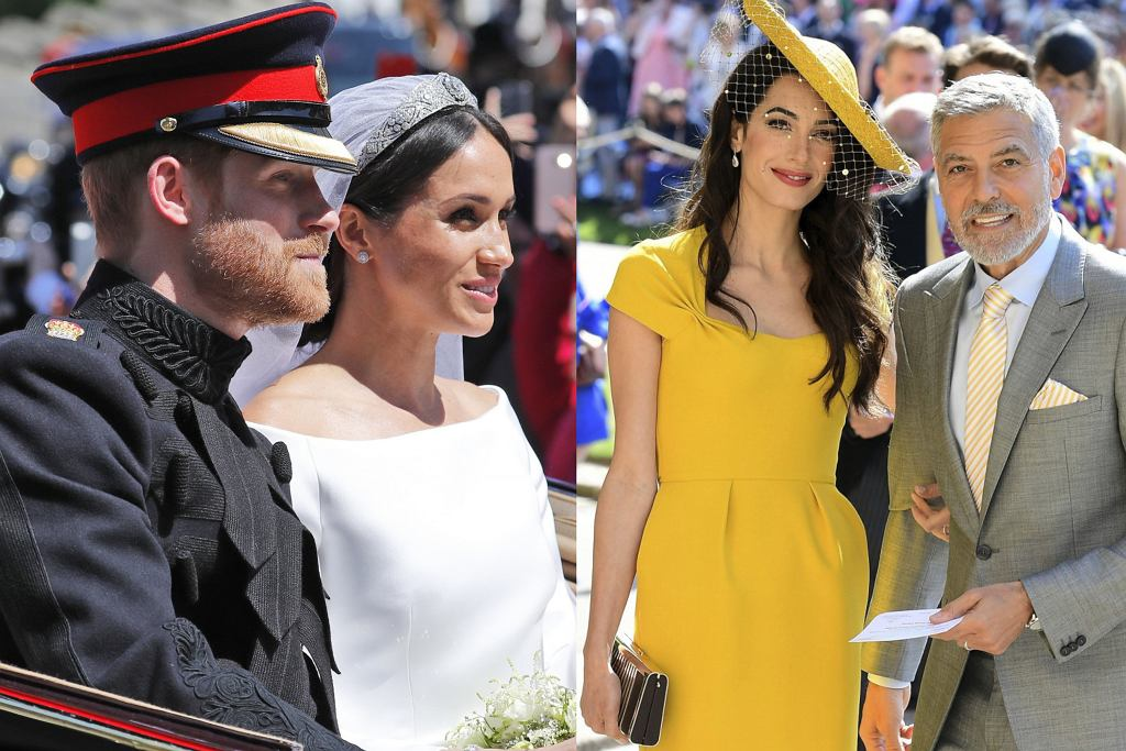 Książę Harry, Meghan Markle, Amal Clooney, George Clooney