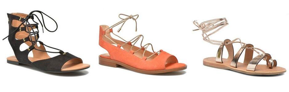 Sarenza - wiązane sandały / Esprit, Made By Sarenza, Les Tropeziennes