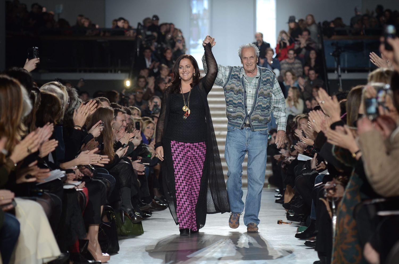 Angela i Ottavio na ostatnim pokazie, w którym uczestniczył założyciel domu mody Missoni (mat. prasowe)