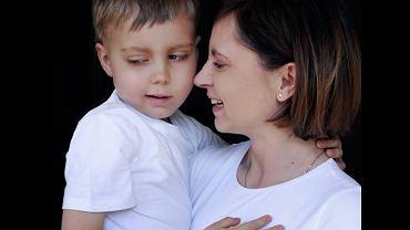 5-letni Franek z mamą