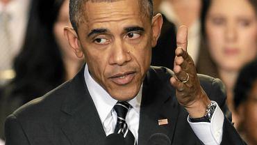 Prezydent USA Barrack Obama na spotkaniu w Chicago