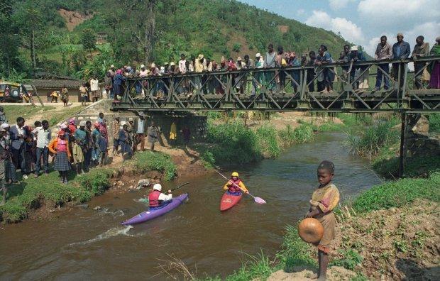 Polscy kajakarze w Rwandzie fot.Tomasz Swinarski