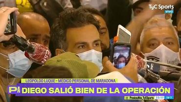 Diego Maradona przeszedł operację. Lekarz wypowiedział się na temat jego stanu zdrowia