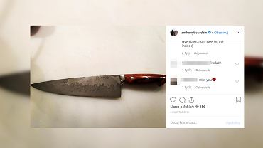 Nóż Anthonego Bourdaina, wykonany przez Boba Kramera, powstał z 800 warstw stali oraz materiału, pochodzącego z meteorytów.