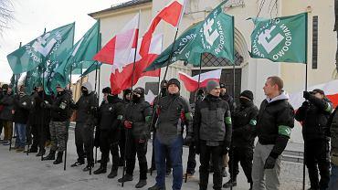 Marsz nacjonalistów w Hajnówce, 24 lutego 2018