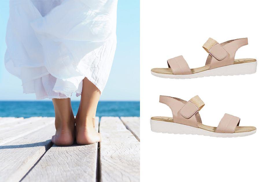 Skórzane sandały z Lidla
