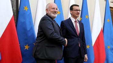 Spotkanie Morawiecki - Timmermans