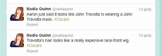 John Travolta twitter, Oskary 2013
