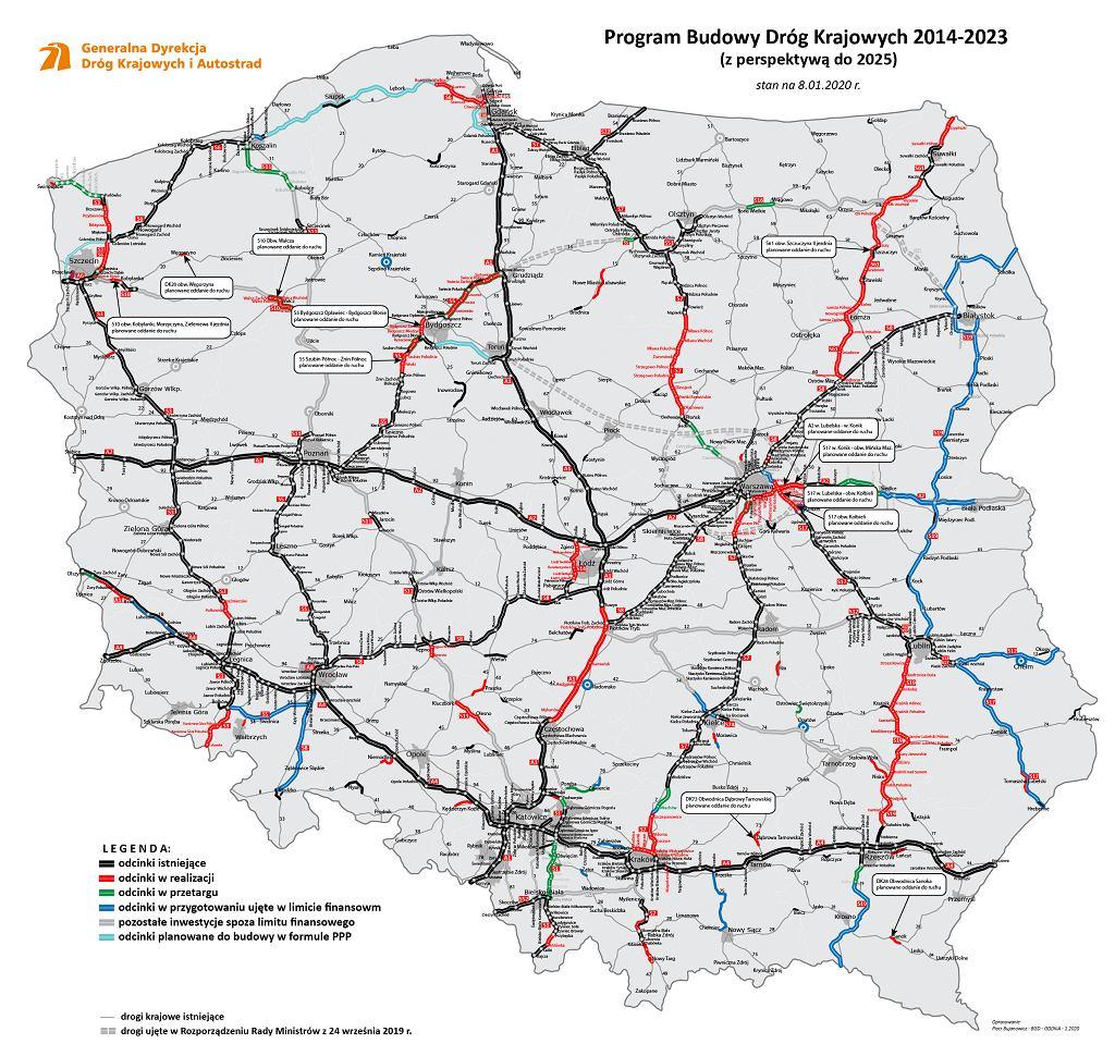 Program Budowy Dróg Krajowych.