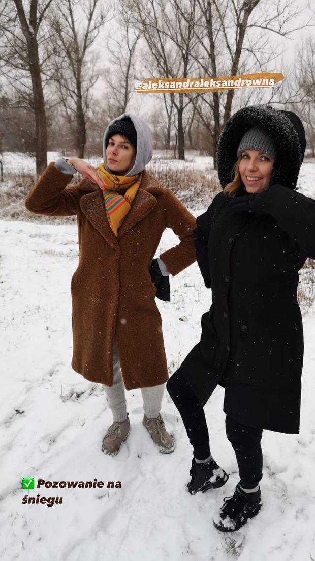 Aleksandra Kwaśniewska i Marta Wierzbicka na spacerze