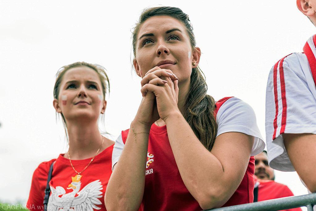 Strefa Kibica przy wrocławskiej Hali Stulecia - mecz Polska - Senegal na Mistrzostwach Świata w Piłce Nożnej Rosja 2018