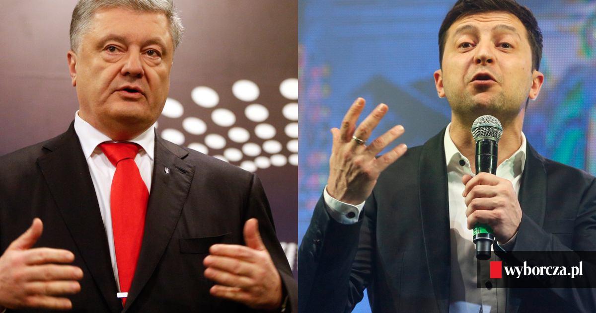 5ecedb701dd562 Ukraina. Przed drugą turą wyborów prezydenckich Zełenski zwiększył przewagę  nad Poroszenką