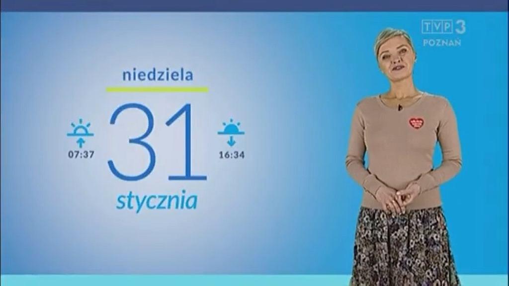 Prezenterka pogody TVP Poznań zwolniona za serduszko WOŚP