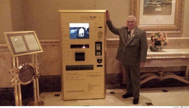 Lech Wałęsa w Dubaju: ''Do zakupu złota na karte bankową''