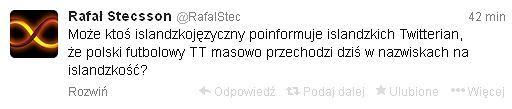 Twitter Rafała Steca