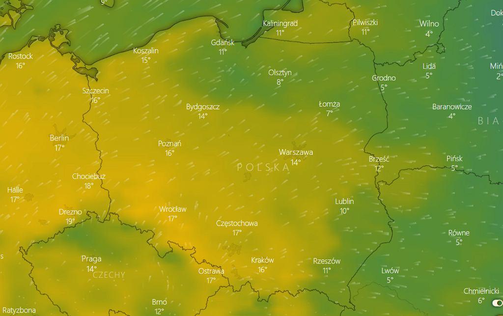 Rekordy temperatury pobite